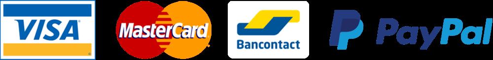 Visa MasterCard Bancontact PayPal